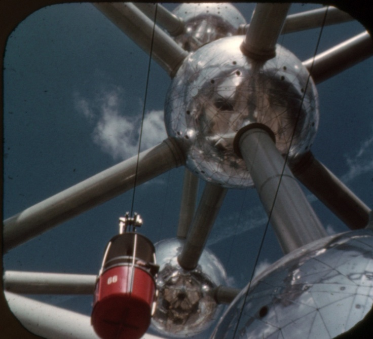 The Atomium, photograph from from a View-Master souvenir reel of Expo '58, Brussels World's Fair