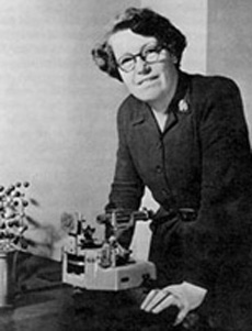 Helen Megaw (1907-2002) in the Cavendish Laboratory c. 1950