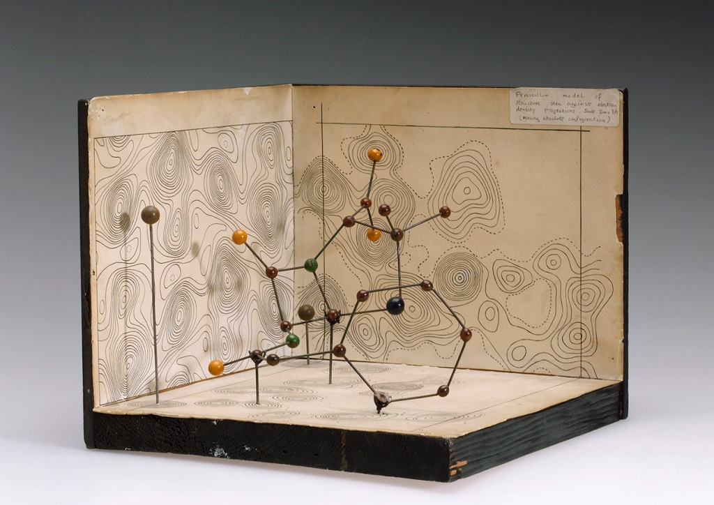 Dorothy Hodgkin's 1945 molecular model of penicillin, Science Museum/Science & Society Picture Library